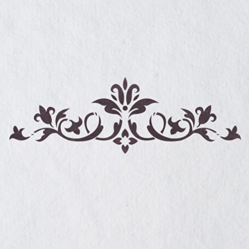 J BOUTIQUE STENCILS Wall Stencils Border Stencil Pattern 072 Reusable Template for DIY wall (Wall Border Stencil)