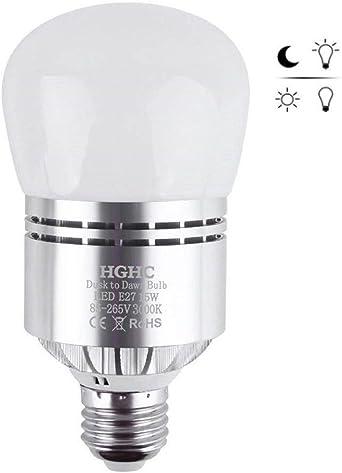 Bombilla de Sensor LED, E27 15W Bombilla LED Blanco Cálido ...