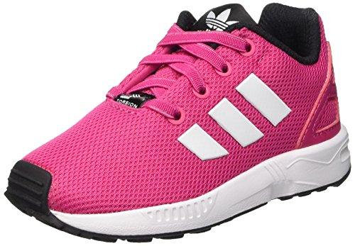 adidas Baby Mädchen ZX Flux Lauflernschuhe Pink - Rose (Eqt Pink S16/Ftwr White/Core Black)
