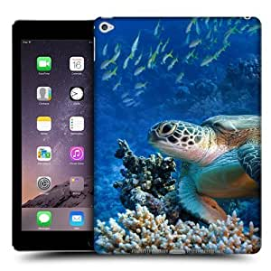 Head Case Designs Sea Turtle Sitting On Coral Reef Wildlife Protective Snap-on Hard Back Case Cover for Apple iPad Air 2