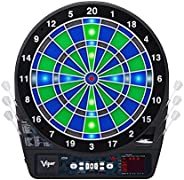 Viper Ion Electronic Dartboard, Illuminated Segments, Light Based Games, Green And Blue Segment Colors, Ultra
