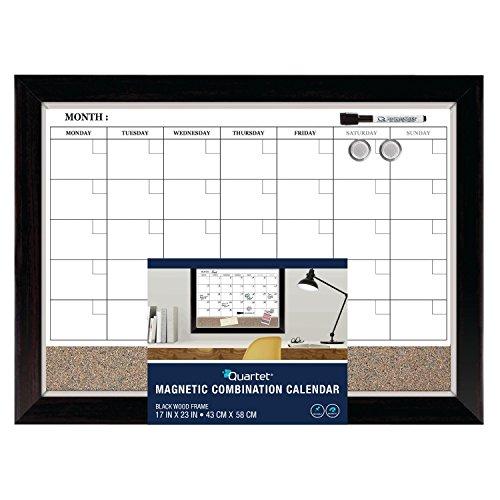 Dry Erase Calendar And Cork Board Combo : Quartet dry erase calendar board planner magnetic combo