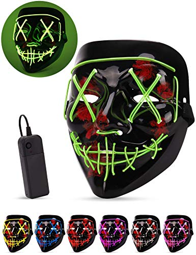 Best Scary Halloween Costumes Ever - AnanBros Scary LED Halloween Mask, Masquerade
