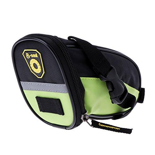 (ULKEMEFashion Bicycle Cycling Mountain Bike Back Seat Zipper Luggage Saddle Bags)