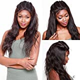 R&S Full Lace Human Hair Wigs Especially Lifelike With Baby Hair 130% Density 5A Quality (Front Frontal Virgin for Black Women 360 Bleached Knots Natural Color Straight Bob Glueless Remy Under)