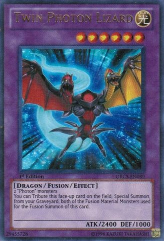 Yu-Gi-Oh! - Twin Photon Lizard (ORCS-EN039) - Order of Chaos - 1st Edition - Ultra Rare