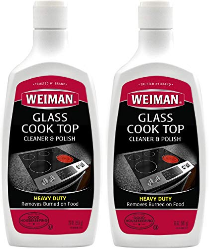 Price comparison product image Weiman Glass Cook Top Cleaner and Polish - 20 Ounce [2 Pack] Heavy Duty No Scratch Glass Ceramic Safe Non-Abrasive Stovetop Cooktop Cleaner