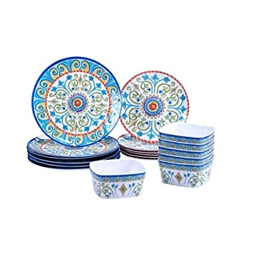 Certified International Tuscany 18-piece Melamine Dinnerware Set