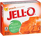 Jell-o Gelatin Dessert, Peach, 3-ounce Boxes (Pack of 4)