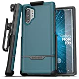 Encased Galaxy Note 10 Plus Belt Clip Protective Holster Case (2019 Rebel Armor) Heavy Duty Rugged Full Body Cover with Holder Ocean Blue (Samsung Note 10+)