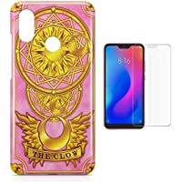 Kit Capa Case TPU Xiaomi Redmi Note 7 Pro Card Captors Carta Clow + Pel Vidro (BD01)