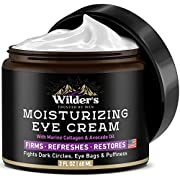 #LightningDeal Moisturizing Men's Eye Cream - Eye Firming & Refreshing Men's Wrinkle Cream - Made in USA - Men's Anti-Aging Cream for Dark Under-Eye Circles, Eye Bags & Puffiness - Under Eye Cream for Men 2 fl oz