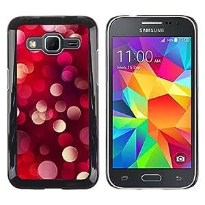 iKiki Tech / Estuche rígido - White Lights Dots Vibrant Blur - Samsung Galaxy Core Prime SM-G360