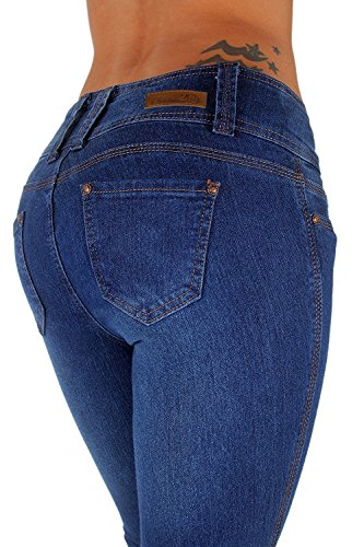 N231 Plus/Junior Colombian Design Mid Waist Butt Lift Levanta Cola Skinny Jeans