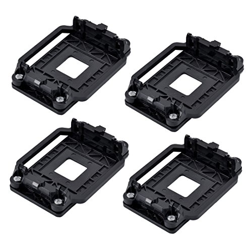 uxcell Plastic AMD CPU Fan Heatsink Bracket Base Socket 4pcs Black for AM2 AM3 AM2+ AM3+