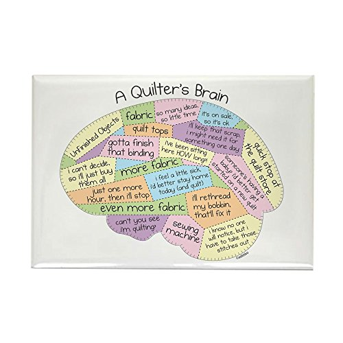 (CafePress Quilter's Brain Rectangle Magnet, 2