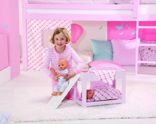 Etagenbett Puppe : Zapf 809563 baby born hochbett mit rutsche: amazon.de: spielzeug