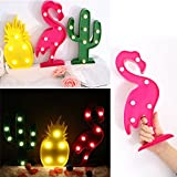 Wanrane Animal Table LightCreative LED Table Light Optional Pattern Home Decorative Lamp Kid Night Light (Color : Pink)