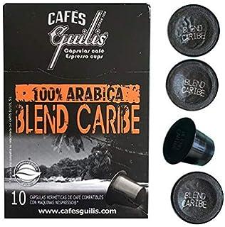 CAFES GUILIS DESDE 1928 AMANTES DEL CAFÉ - Cápsulas de Café Espresso Blend Caribe Compatibles con…