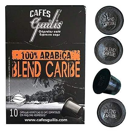 CAFES GUILIS DESDE 1928 AMANTES DEL CAFÉ - Cápsulas de Café Espresso Blend Caribe Compatibles con Máquinas Nespresso 100 unidades: Amazon.es: Alimentación y ...