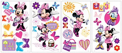 Roommates Rmk1666Scs Mickey & Friends – Minnie Bow-Tique Peel & Stick Wall Decals