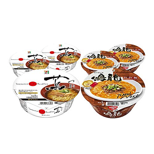[Value Pack] TSUTA & NAKIRYU Japanese Famous Ramen Shop's Instant Noodle 3by3 Set 蔦 & 鳴龍 One Star In Michelin Of Japan ()