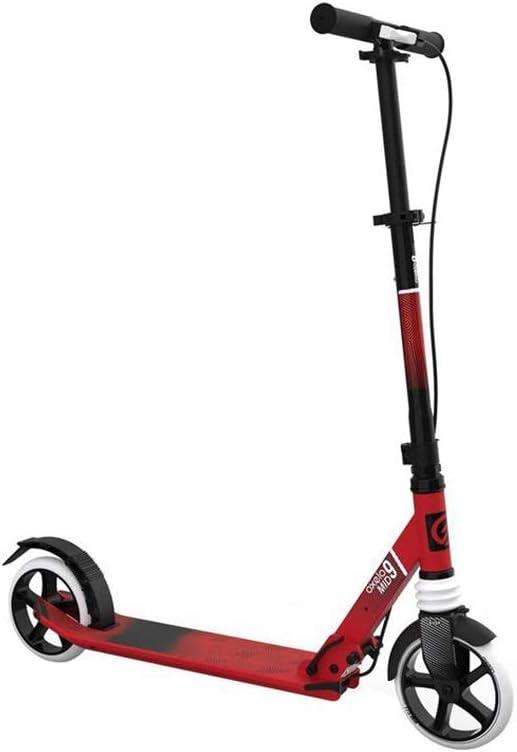 Nan No Scooter eléctrico de Dos Ruedas, Sistema de Frenos Doble con Plantilla ortopédica de Vespa, de la PU de Ruedas Grandes Antideslizante de la manija 100 KG