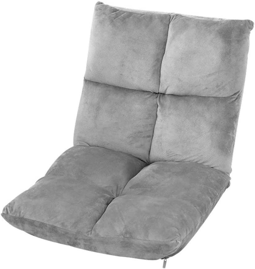 Adjustable Floor Plush Lazy Sofa,Padded Breathable Floor Chair,Game Sofa Chair Recliner Couch Lounger with Cushioned Back Support-Gray