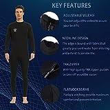 Lemorecn Wetsuits Mens Neoprene 3/2mm Full Body
