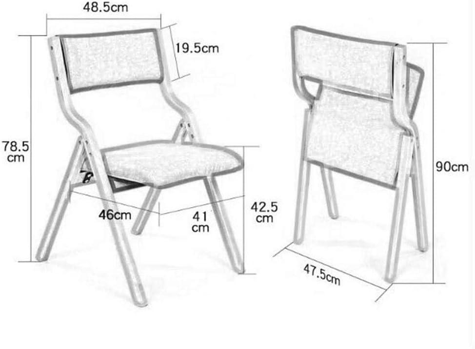 RKY Chaises, Chaises pliantes, sièges arrière, étudiants petites et simples tabourets, chaises portables, 10 couleurs en option / - / (Color : A)