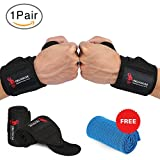 Cheap Wrist Wraps – Wrist Straps 18″ for Weightlifting Fitness CrossFit Bodybuilding Powerlifting Strength Training,with Professional Grade Thumb Loops, Wrist Support One Size fits all Men And Women.