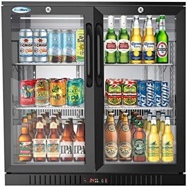 KoolMore 2 Door Back Bar Cooler Counter