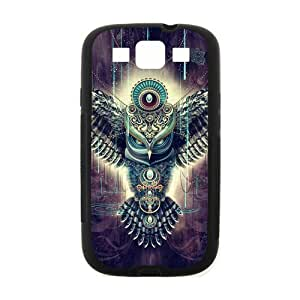 Samsung Galaxy S3 I9300 Case,Aztec Tribal Owl Hign Definition Unique Design Cover With Hign Quality Rubber Plastic Protection Case