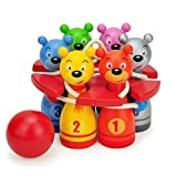 Itemship- Home Bowling Alleys wood Children multicolor cartoon Bowling Set Exercise hand-eye coordination