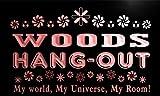 pq1107-r Woods Hang Out Girl Kid's Room Light Princess Bar Neon Sign