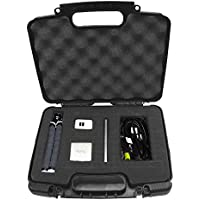 Portable Travel Projector Carry Hard Case w/ Dense Foam - Fits RIF6 CUBE , UO Smart Beam Laser , Syhonic S8 , Amaz-Play Mobile Pico Projector and Small Accessories