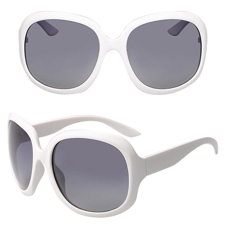 Sunglasses clubmaster White Retro Large Oversized Womens Designer Polarized Sunglasses FASHION EYEWEAR sunglasses bifocal glasses optical frame unisex