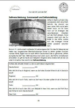 Von der Uhr und der Zeit: Arbeitsblätter für die fachübergreifende ...