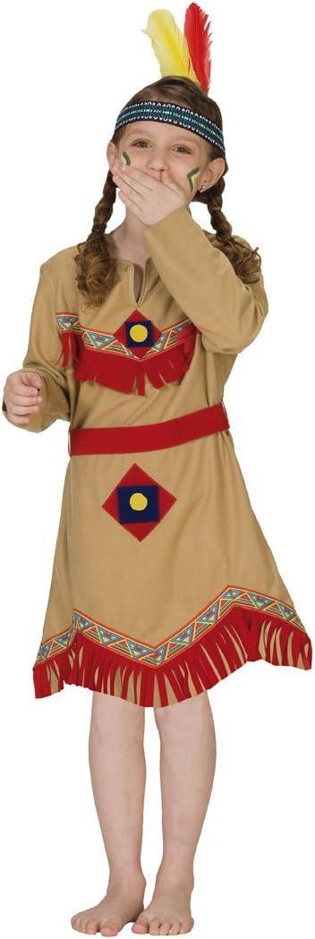 Rubies 1 2389 128 - Disfraz de india para niña (talla 128): Amazon ...