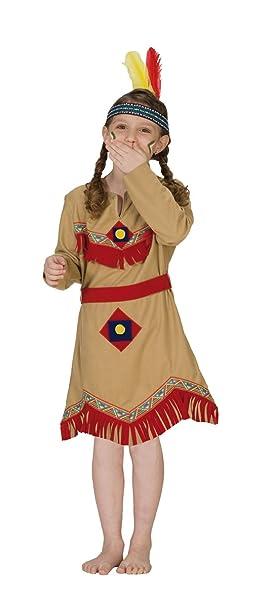 Rubies 1 2389 128 - Disfraz de india para niña (talla 128 ...