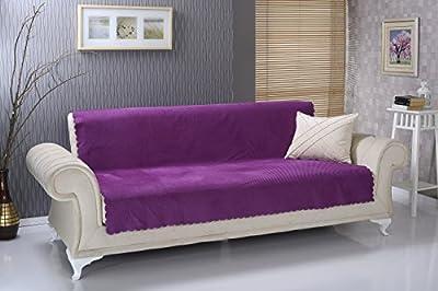Chiara Rose Anti-slip Armless Sofa Shield Futon Couch Pet Cover Furniture Protector Diamond
