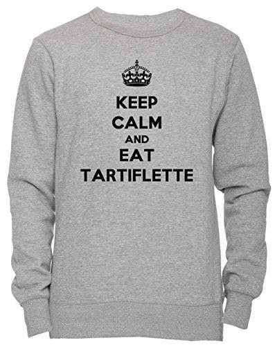 Erido Keep Calm and Eat Tartiflette Unisex Men's Women's Jumper Sweatshirt Pullover Grey X-Large Size XL