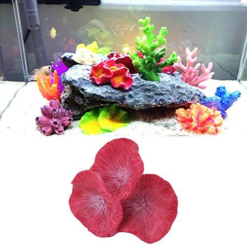 (Mimgo Fish Tank Artificial Resin Coral Decoration Underwater Plants Ornament)