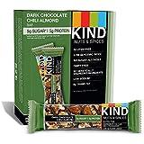 KIND Bars, Dark Chocolate Chili Almond, Gluten Free, 1.4 Ounce Bars, 12 Count