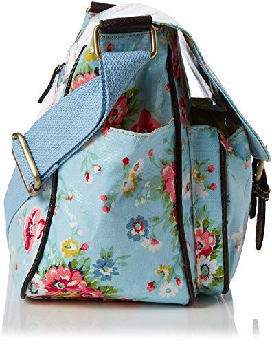 Swanky Swans Jenny Floral - Bolsos maletín Mujer Azul (Blue)