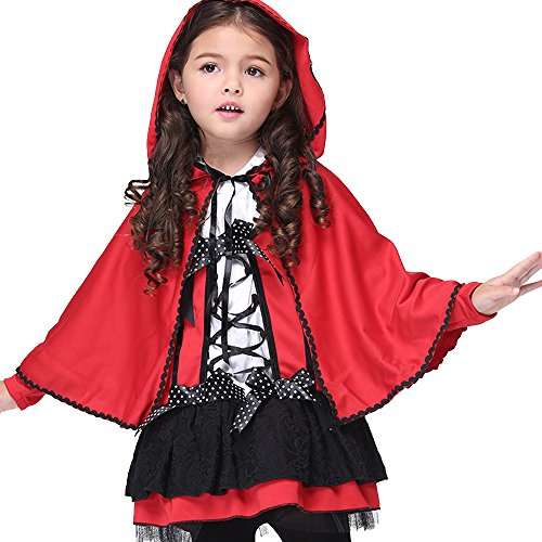 Uleade Girls Little Red Riding Hood Costume Fancy Dress Hens Party Halloween Outfit ()