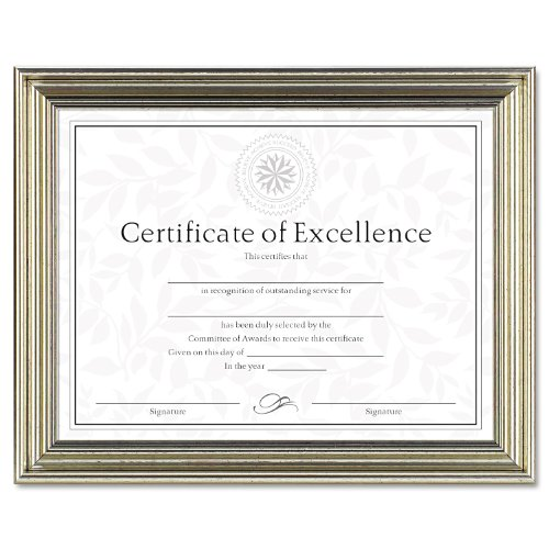 DAX MANUFACTURING INC. Antique Colored Document Frame w/Certificate DAXN1818N3T