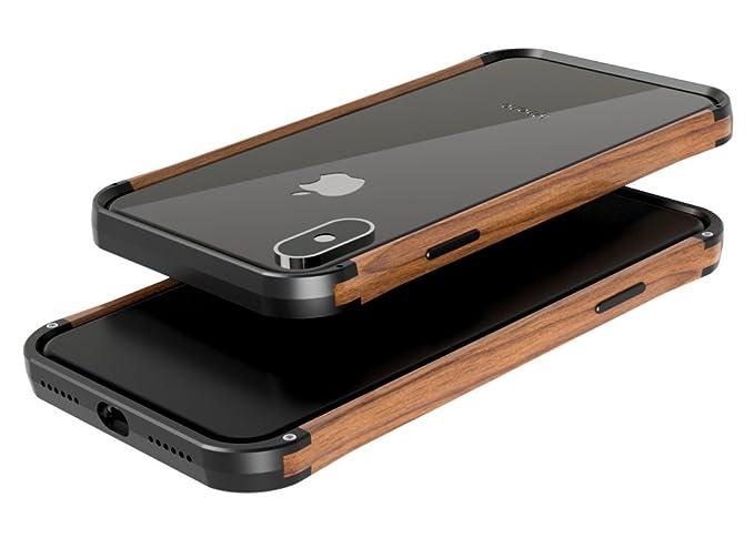 huge selection of ca2e1 ce58b Amazon.com: VESEL Wood & Aluminum iPhone X/XS Cases - Deep Black ...