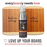 Food Based Cutting Board Oil & Butcher Block Oil Spray - Healthier than Mineral Oil - Made From Pure Walnut Oil - Naturally Protects and Beautifies Wood Kitchen Products & Countertops - Made in USA