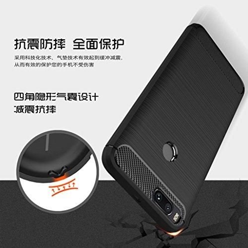 Funda Xiaomi MI 4X,Manyip Alta Calidad Ultra Slim Anti-Rasguño y Resistente Huellas Dactilares Totalmente Protectora Caso de Cover Case Material de fibra de carbono TPU Adecuado para el Xiaomi MI 4X C